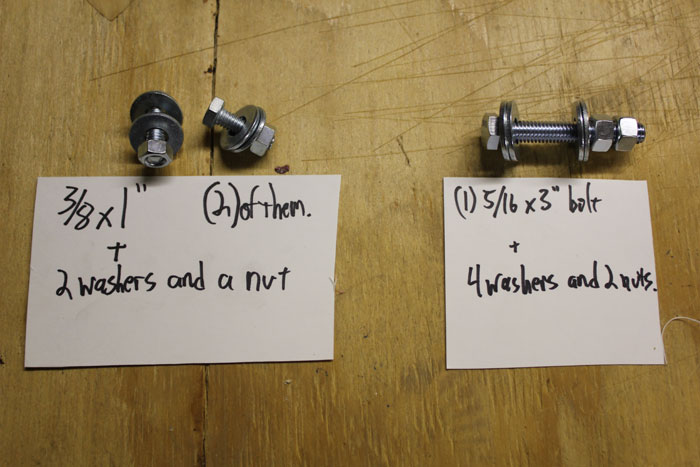 nuts and bolts for pushcart steering